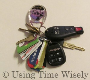 Key chain items in height order