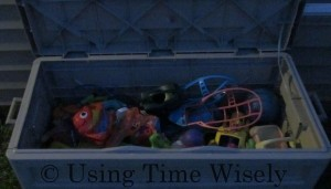 Organized outside toy chest